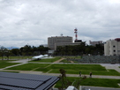 中央公園より福井城(県庁)を望む…