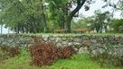 琵琶湖に面した石垣…