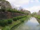 石垣と水掘り