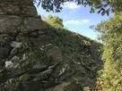 本丸北東側の石垣…