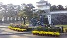 菊と二本松城跡…