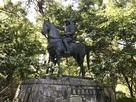 藤堂高虎の銅像…