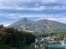 北帯郭から望む磐梯山…