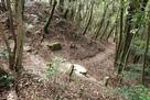 登山路と水城口城門跡