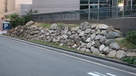 豊臣大阪城三の丸北端の石垣