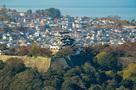 佐和山から見た彦根城…