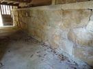 妙見神社建物の下の石垣