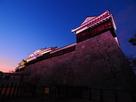 ニノ門南櫓下から見る夕景…