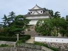 新幹線ホームから見た伏見櫓…