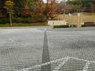 市役所に示された大手道の線…
