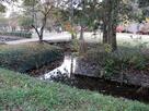 折れのある水堀跡…
