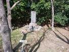 手取城の二の丸跡にある城址碑…