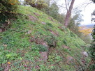 物見櫓台(天守台)の石垣…