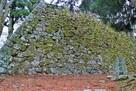 天守台と城址碑(西側)