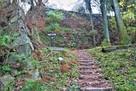 壺阪口中門跡(西側)と二の丸石垣(西側)