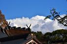 富士山本宮浅間大社本殿と富士