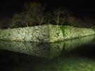 ライトアップされた月見櫓石垣…
