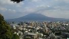 城山展望台からの桜島…