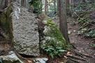 矢穴跡が残る石…