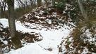 積雪の大堀切5の土橋(2018冬)…