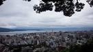 上山城から見る錦江湾と鹿児島市街地…