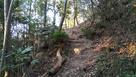 備中富山城 石垣と堀切…