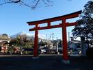 赤鳥居と富士山…