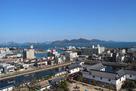 天守より今治港・来島海峡大橋を望む…