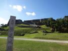 石碑と城址