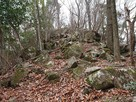 天神山城跡への道…
