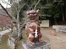 天石門別神社の狛犬…