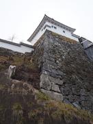 帯郭櫓下の石垣…