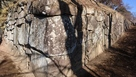 御殿桜側の石垣…