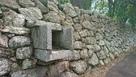 築城時から残る排水口…