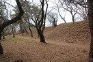 愛宕山の土塁