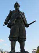 豊國神社の豊臣秀吉公像…