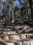 織田信忠邸跡から二の丸への石段…