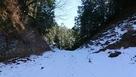登城道の残雪