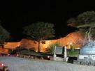 ライトアップされた大隅の高石垣
