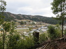 本丸跡から地黄城方面の眺望