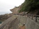 世界遺産の崖