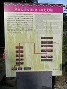屋良大川按司の墓(御先大川)の案内板…