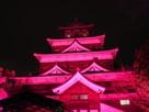 ライトアップ天守◆チームラボ 広島城 光…