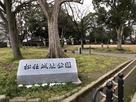 松任城址公園石碑(本丸跡)…