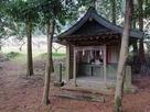 登山路入口(神社下宮社殿)…