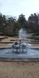 噴水と天守閣