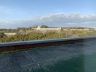 ホテルの窓から見える明石城…