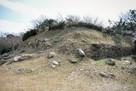 馬場から見る西の丸石垣…