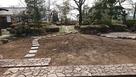 家老詰所の前の庭園…