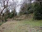 天ヶ岳砦方面の堀切…